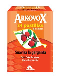 AARRMMM¡¡ Arkovox: Pastillas. Suavizan la garganta con sabor a frutos del bosque