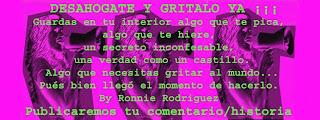 Un nuevo blog para este verano: DESAHOGATE Y GRITALO YA ¡¡¡ http://desahogate-y-gritalo-ya.blogspot.com