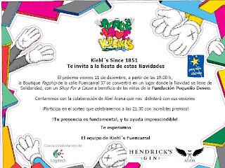 Te invitamos a… El mejor y más solidario evento de las navidades. En Kiehl´s Fuencarral – Madrid -Dic-2009