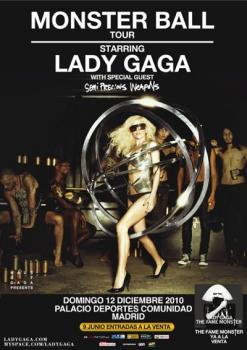 Lady Gaga el fenómeno fashionista y musical  llega a España.