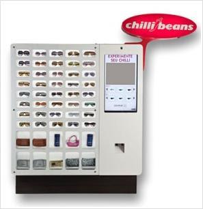 9d6a36645bf0f A brasileira Chilli Beans lançou ontem no seu mercado de origem, em São  Paulo, a primeira vending machine de óculos escuros. A máquina  disponibiliza 40 ...