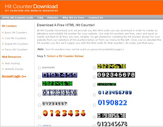 Tutorial Blog: Adding Free Hit Counter to Your Blog or Website
