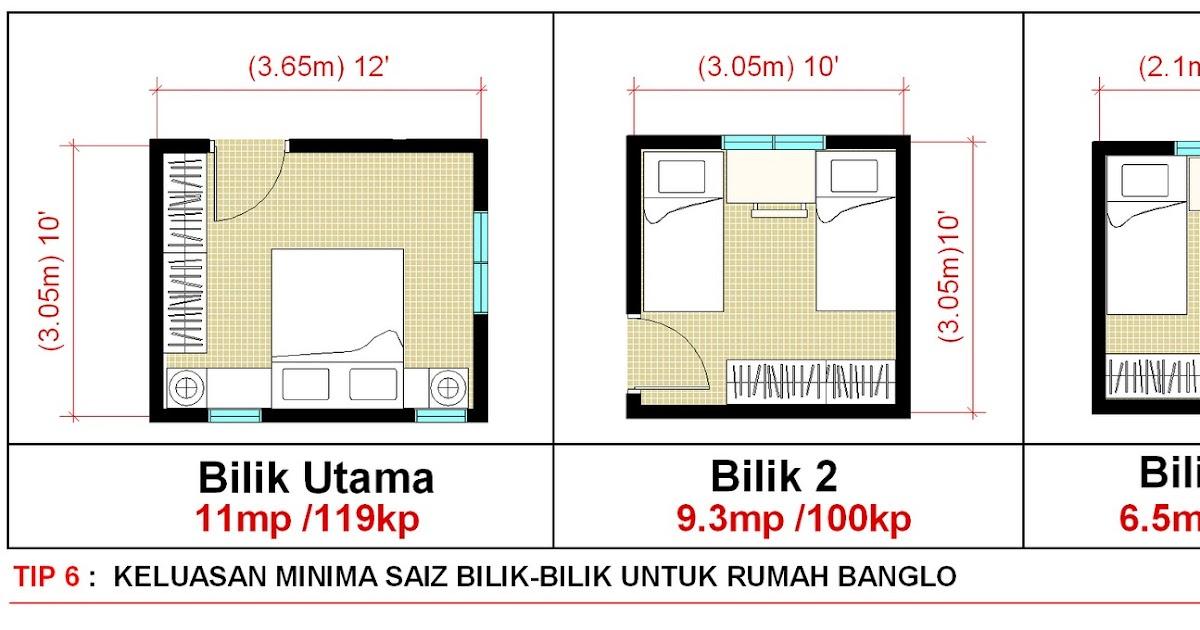 Idea Rumah Idaman Anda Design Bungalow Pelan Banglo Plan Tip 6 Tahukah Saiz Dan Ukuran Minimum Untuk Setiap Bilik