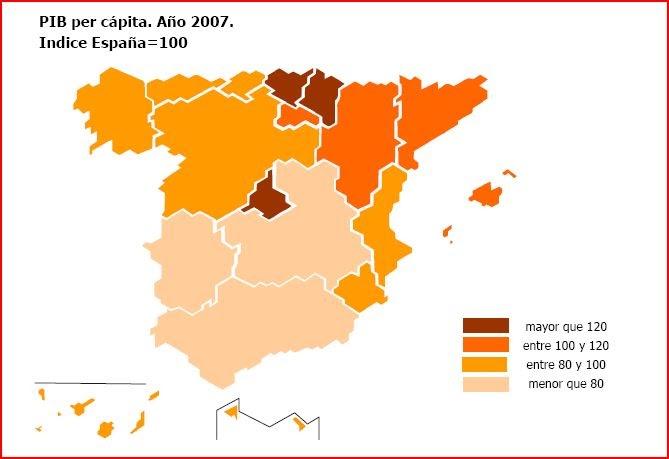 Mapa Economico De España.Comentando El Mapa Economico De Espana