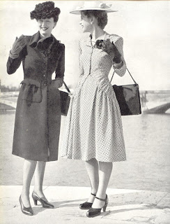 Typical street day wear for the mid 1940s