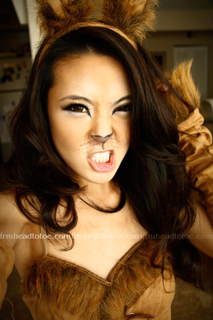 Lion Halloween Makeup Tutorial From Head To Toe