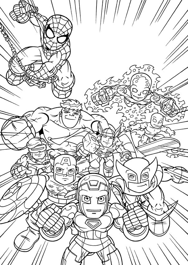 free superhero squad coloring pages - photo #24