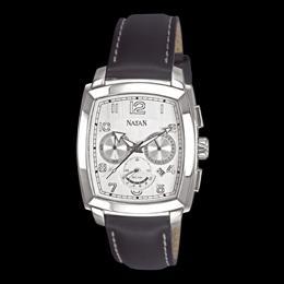 089c23a307e Relógio NATAN com cronógrafos e pulseira em couro R  1.900