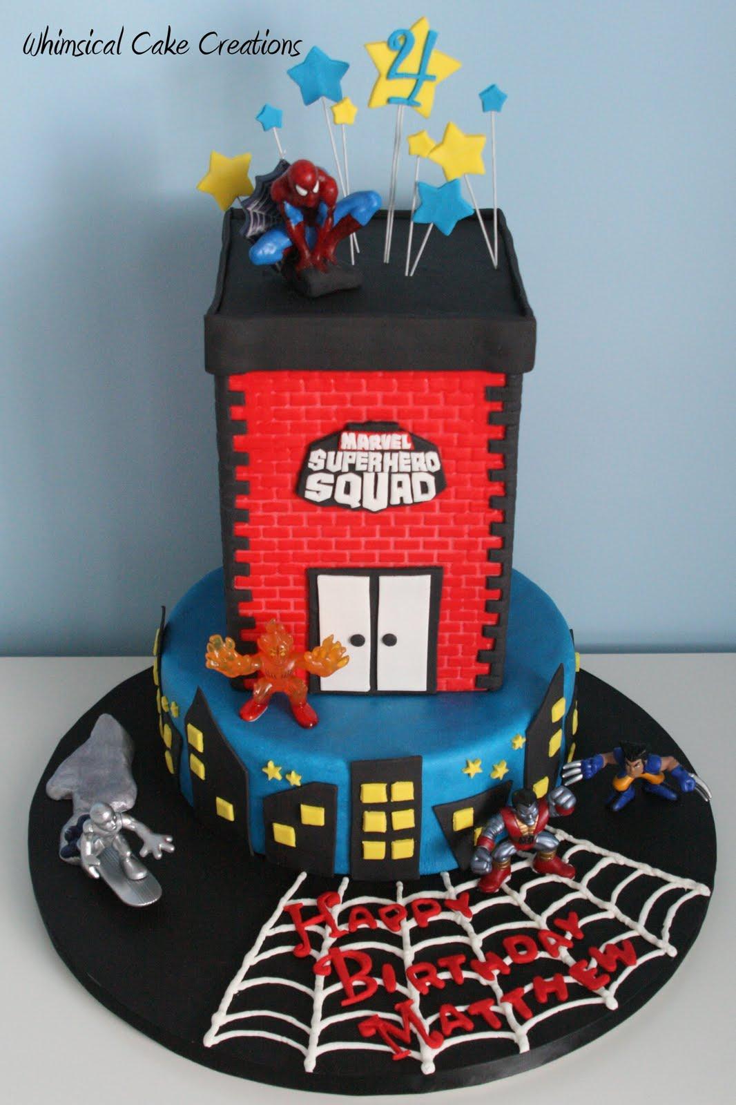 Superhero Cake - Spiderman, Batman, Superman & Captain ...  |Superhero Cakes