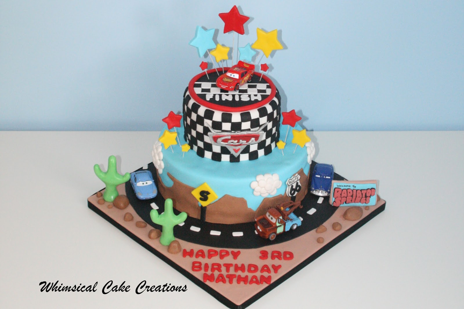 Whimsicalcreations Disney Cars Cake Featuring