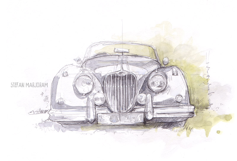 Stefan S Sketch Blog Burrington Fete Classic Cars