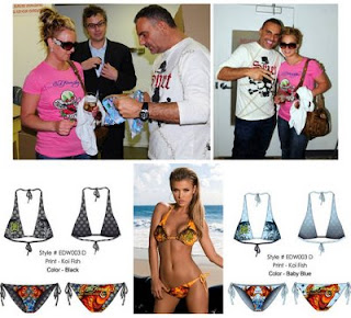 a6eba834266 Britney Spears loves Ed Hardy bikinis and hoodies and Mystique turquoise  thong Sandals here too