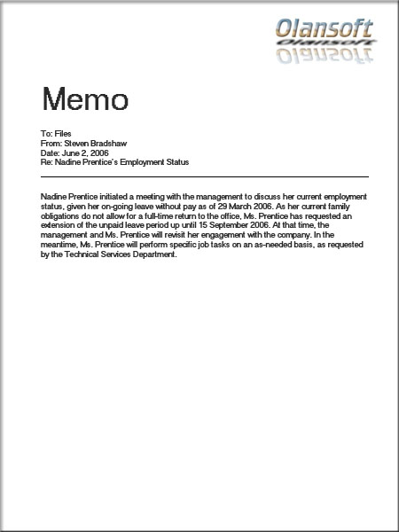 Welcome to Dynaprocom site: Task #3 (What is Memo is all ...