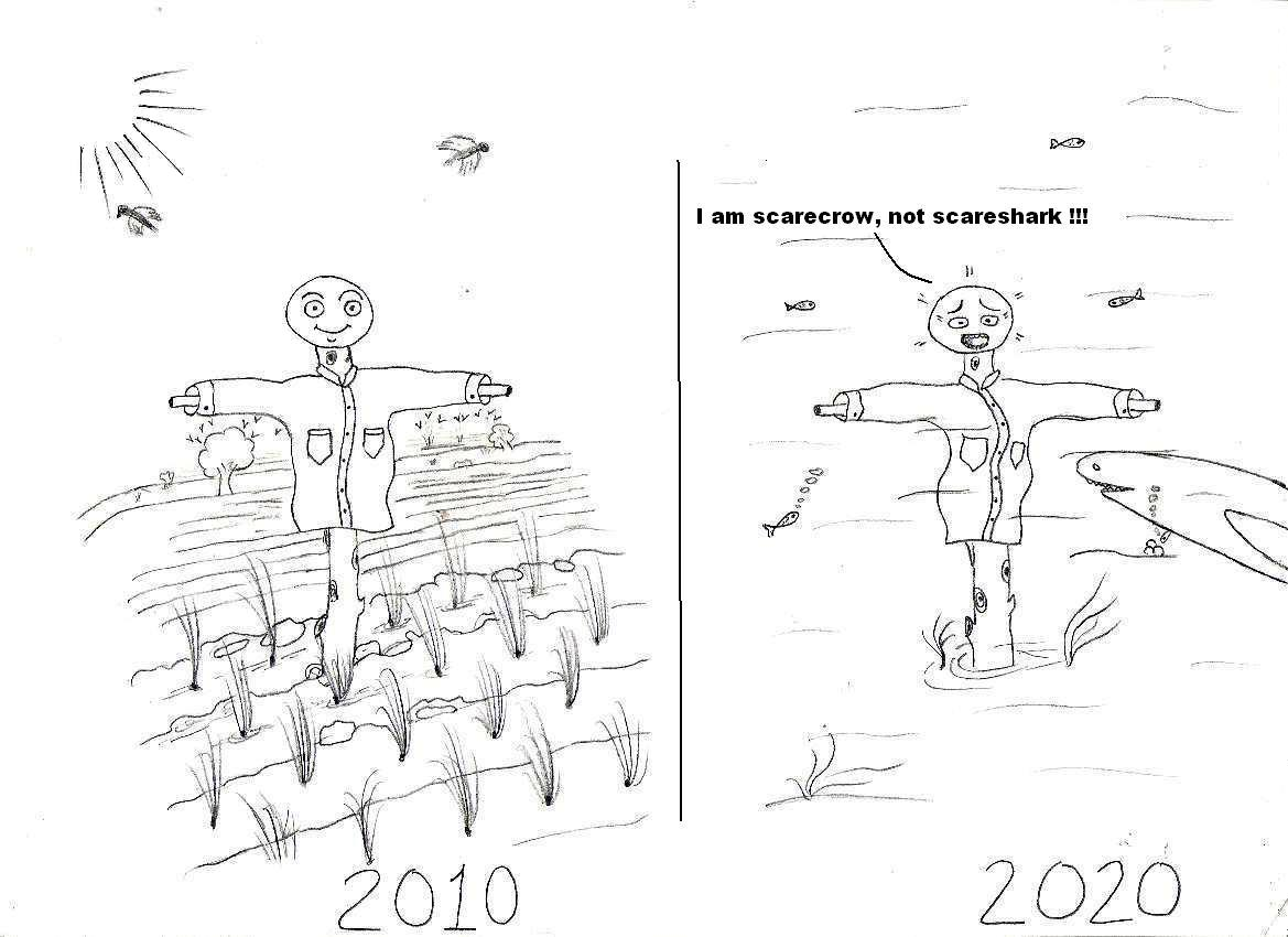 Cartoons by Mak: Global Warming Effect : The World in 2010
