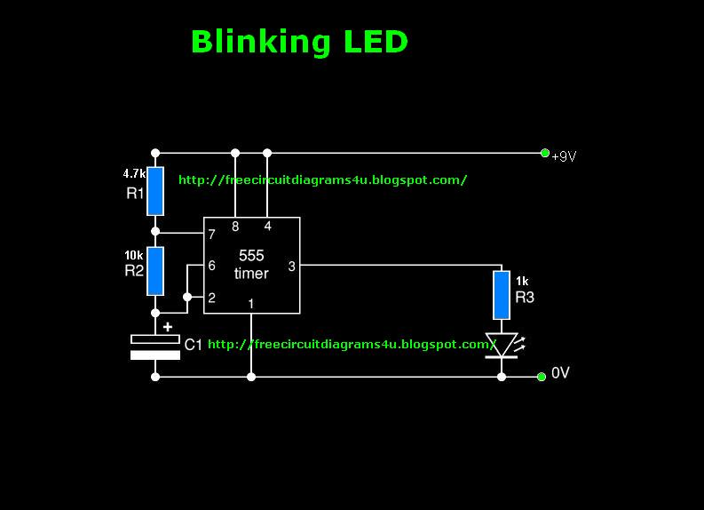 free circuit diagrams 4u: blinking led circuit diagram blinking led ckt diagram godown wiring ckt diagram #4