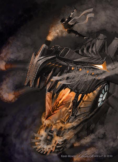 Steampunk Dragon Ship