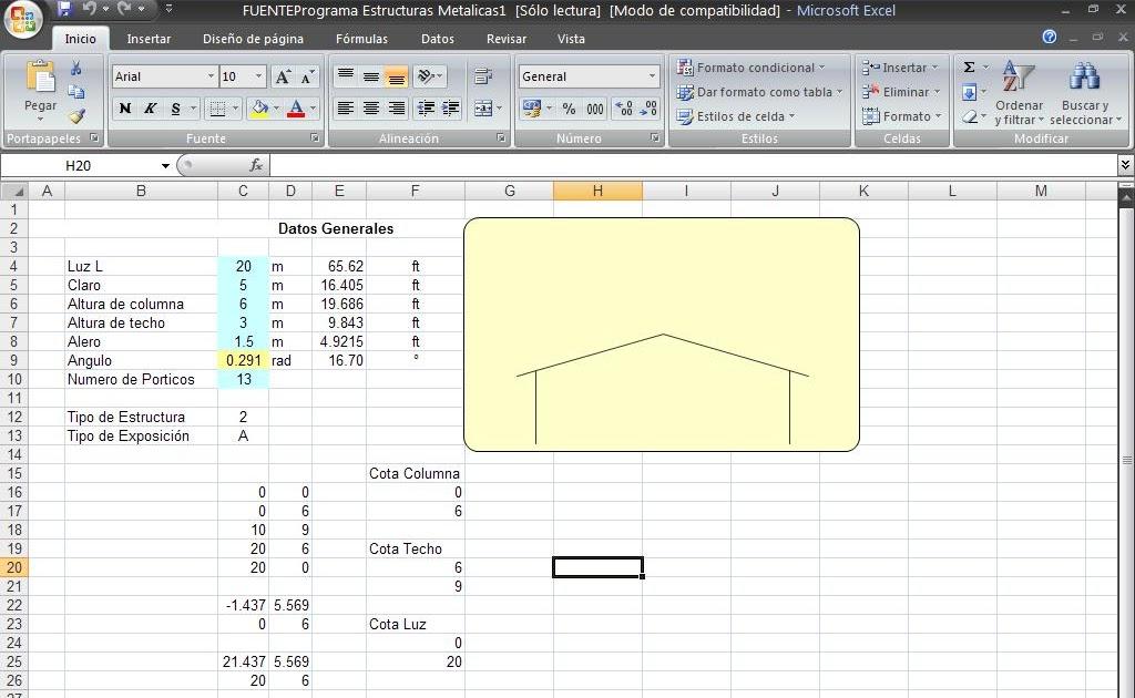 INGENIERIA UNC | Información sobre ingeniería: Hoja de cálculo ...