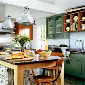 Dar color a los muebles de cocina decorando mejor - Cocinas de campo ...