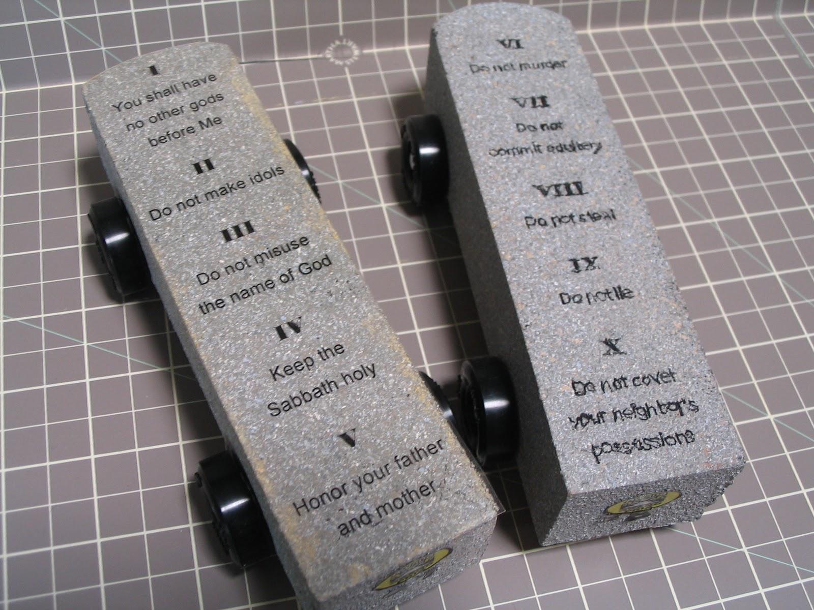 Create A Work Of Heart Awana Grand Prix Ten Commandments Tablets