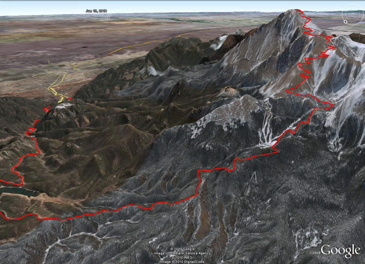 Pikes Peak Hillclimb Route