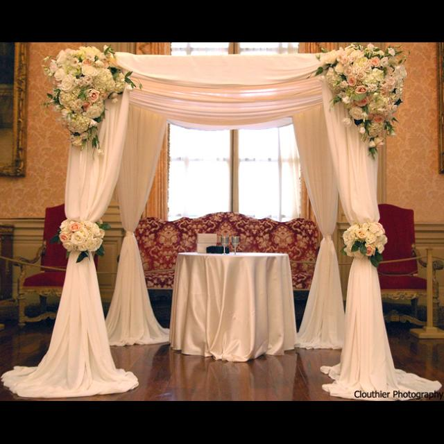 Jewish Wedding Altar Called: Prestigious Occasions: Wedding Ceremony Altar Style