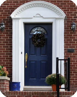 Little house on the corner front door facelift - House with blue door ...