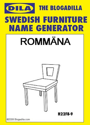 Swedish Furniture Name Generator - The Blogadilla
