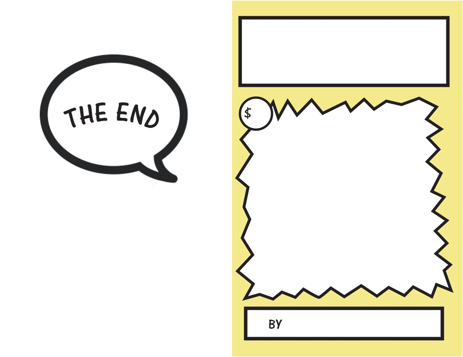 printable blank comic strip template for kids - zakka life kid craft comic books