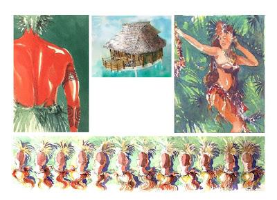 chansons tahitiennes oiseaux du paradis