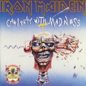 Portada Iron Maiden single can i play with madness