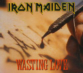Portada Iron Maiden wasting love