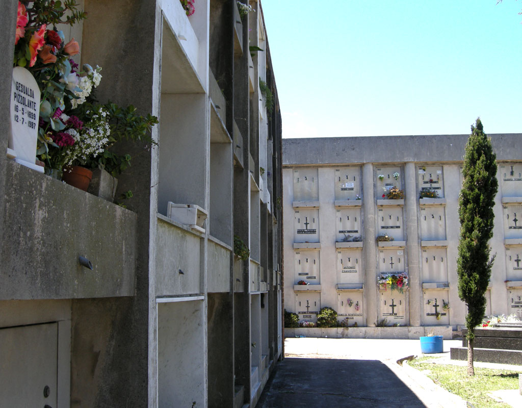 eye on uruguay the day of the dead a photo essay the high walls surrounding the cemetery contain niches for funerary urns