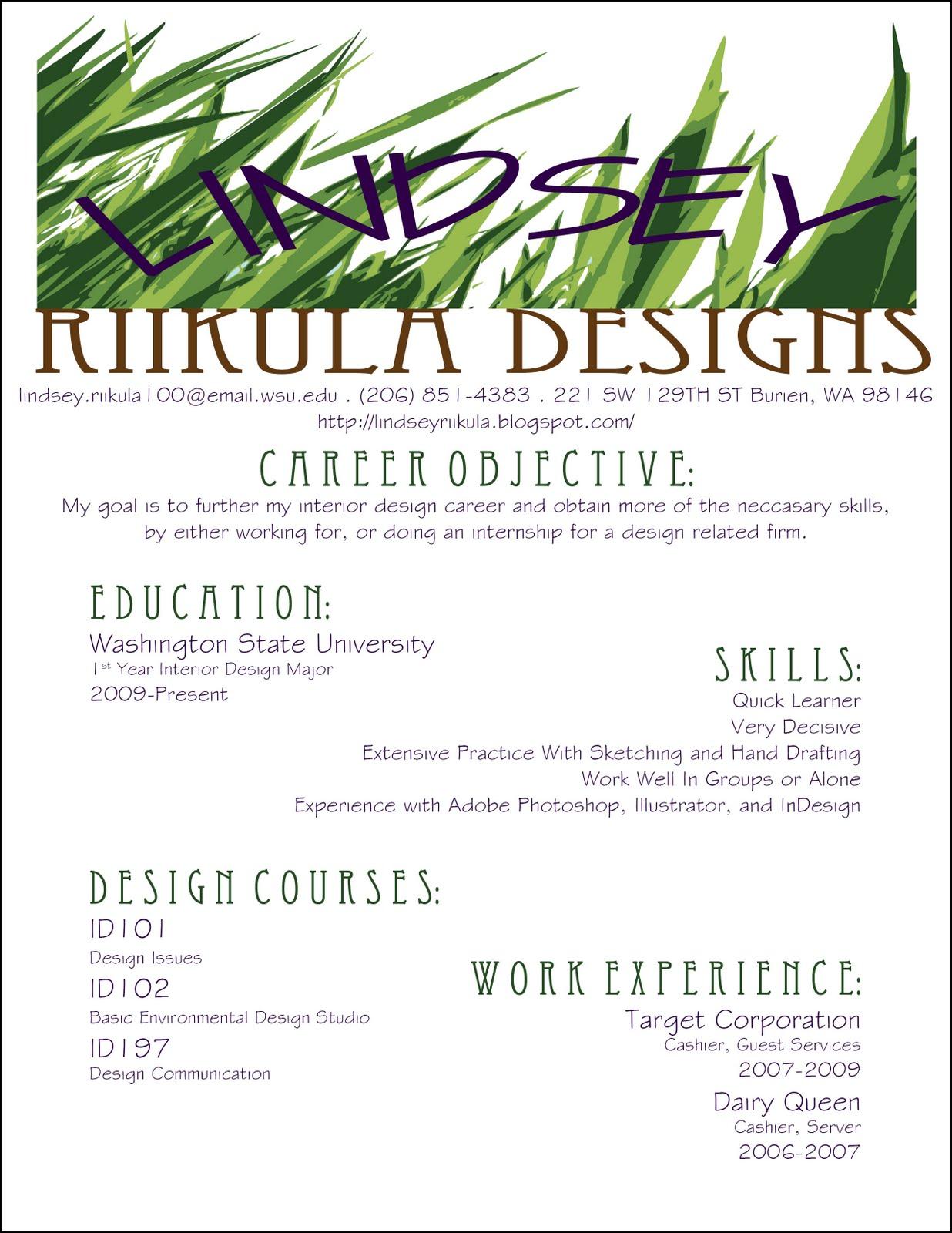 Interior Design Resume Designer