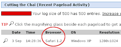 Google Chrome Identified as Safari