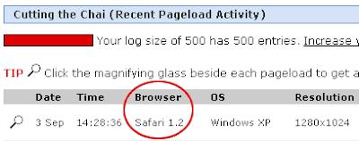 Google Chrome Identified as Safari