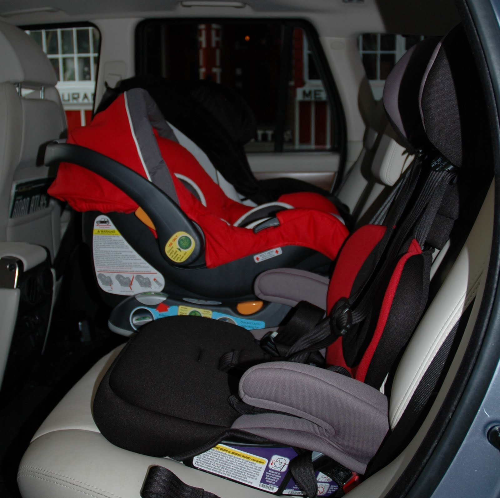 3 Car Seats In 2008 Range Rover Sport