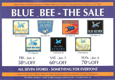 Blue Bee sale