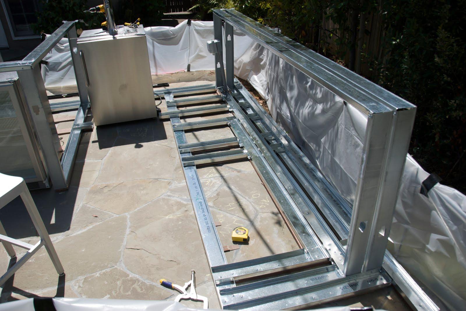 outdoor kitchen construction april 2010. Black Bedroom Furniture Sets. Home Design Ideas