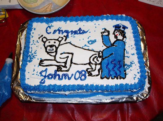 Strange Graduation Cakes