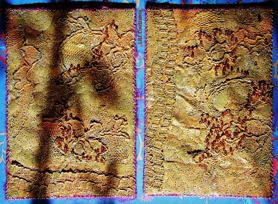 lutradur carti postale textile