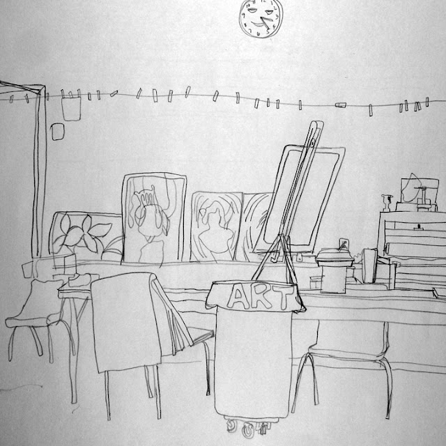 Byuh Drawing Art Room Contour Drawing
