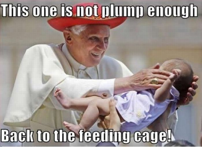 Scary pope