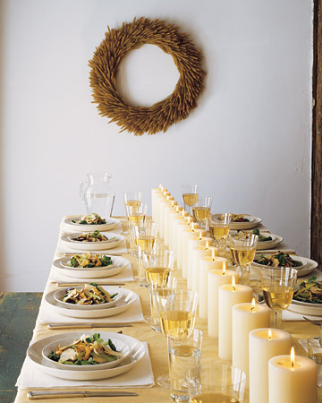 White blossom thanksgiving table settings - Modern christmas table settings ideas ...