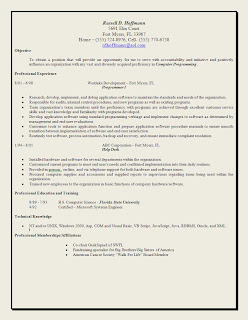 Superior The Traditional Type Of Resume, [click On The Image For A Larger Version,]  Usually Has The Following Information: Name And Contact Information, An  Objective ...  Kick Ass Resume