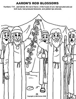 bible coloring pages about aaron-#21
