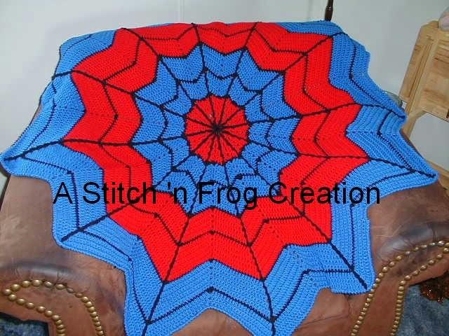 Stitch N Frog Superhero Dream Catcher Afghan Especially For