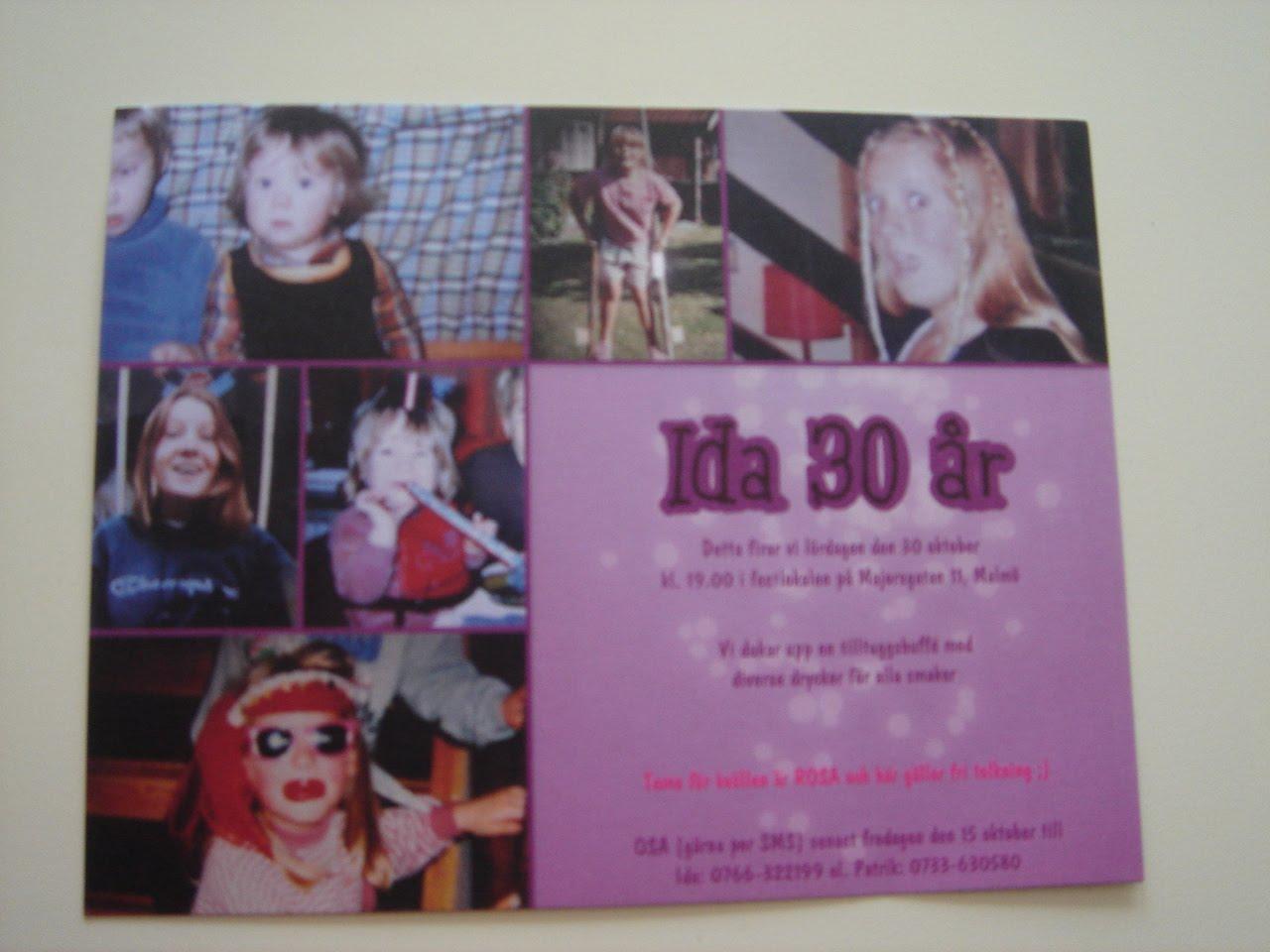 30 års inbjudan En fungerande tillvaro i en ding ding värld!: inbjudan=) 30 års inbjudan