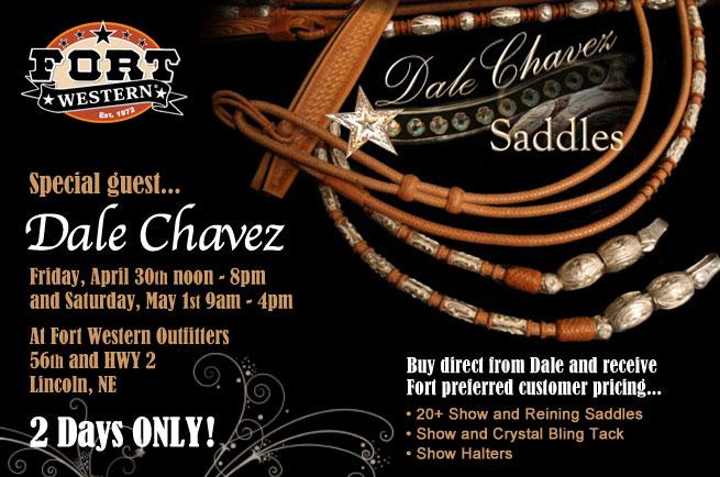 Fort Western Stores Blog: Fort Western Special Guest Dale Chavez Saddles