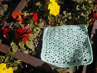 Crocheted Washcloths: Snapdragon