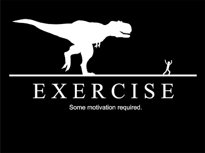 diet motivation poster. Being chased by a t-rex